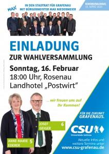 Plakate Wahlversammlungen